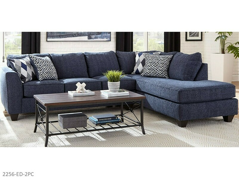 Endurance Denim Stationary Sectional by Albany