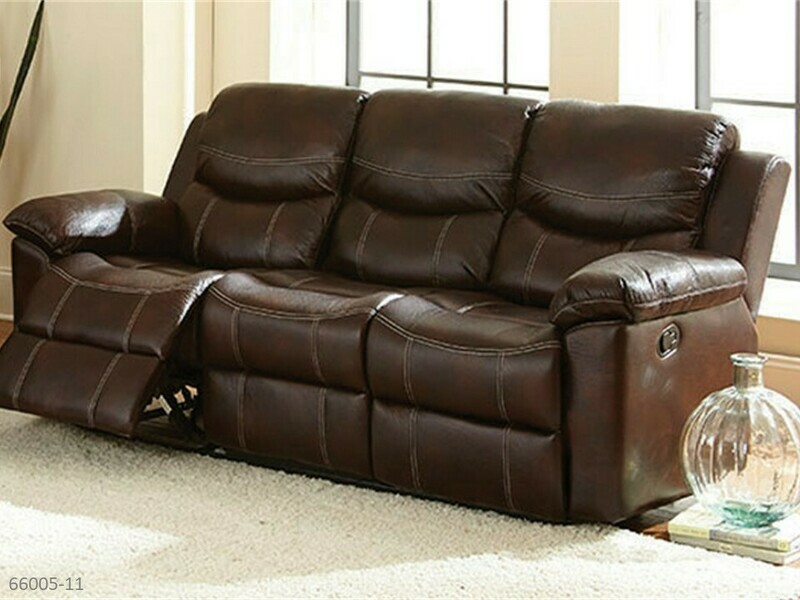 Chestnut Reclining Sofa by Holland House