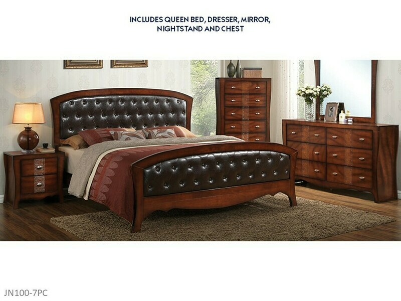 Jenny 7 Pc Bedroom Set by Elements (Queen)