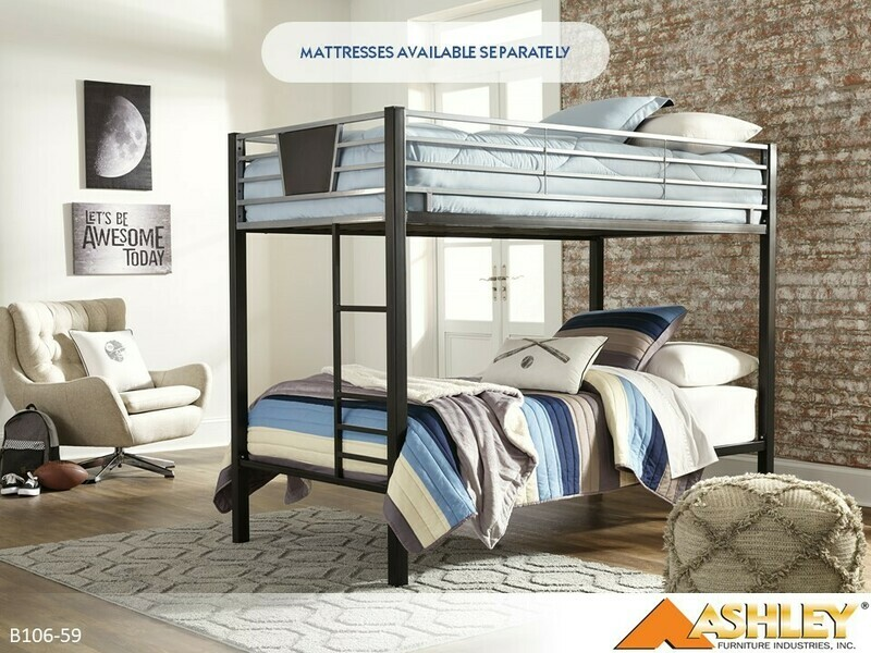 Dinsmore Black-Gray Bunk Bed by Ashley (Twin-Twin)