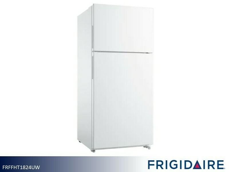 White 18 cu ft Refrigerator with Top Mount Freezer by Frigidaire (18 Cu Ft)