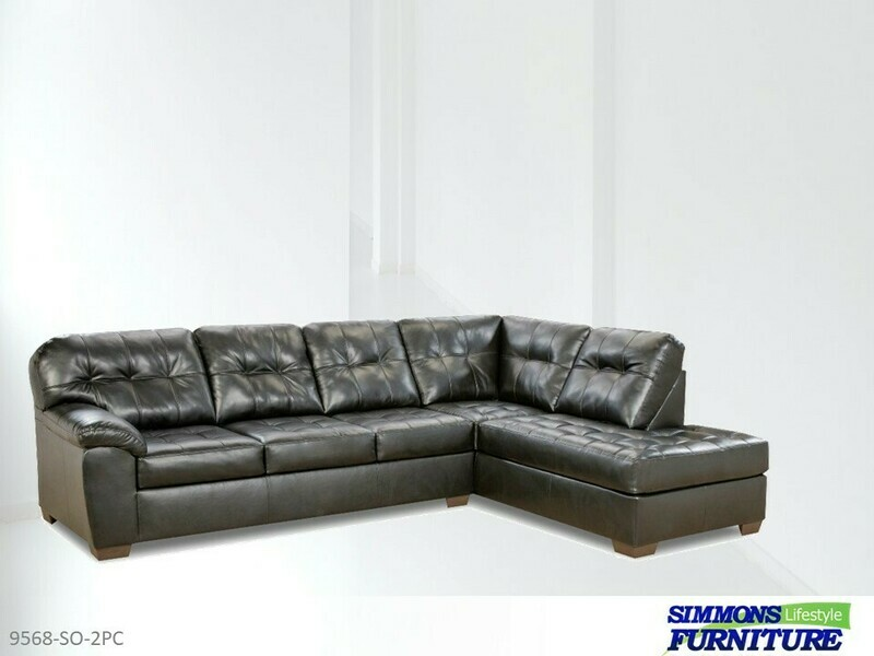 Showtime Onyx Stationary Sectional by Simmons (2 Piece Set)