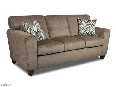 Cornell Pewter Stationary Sofa by American Manufacturing
