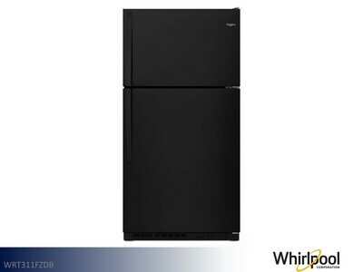 Black 20+ cu ft Refrigerator with Top Mount Freezer by Whirlpool (21 Cu Ft)