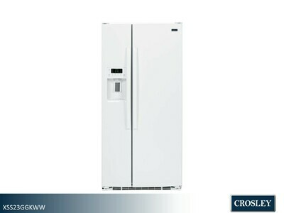 White Side by Side Refrigerator by Crosley (23.2 Cu Ft)