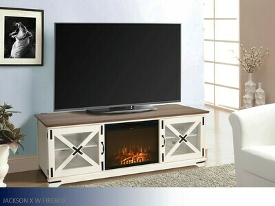 Jackson White Fireplace by Living Essentials