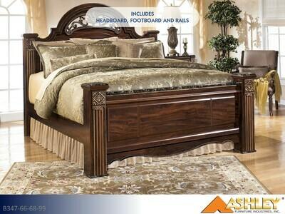 Gabriela Reddish Brown Bed with Headboard Footboard Rails by Ashley (King)