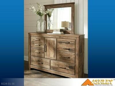 Blaneville Brown Dresser with Mirror by Ashley