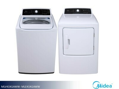 White Washer Dryer Set by Midea (4.1 Cu Ft - 6.7 Cu Ft)