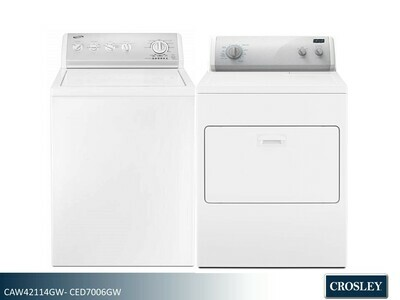 White Washer Dryer Set by Crosley (4.2 Cu Ft - 7.0 Cu Ft)