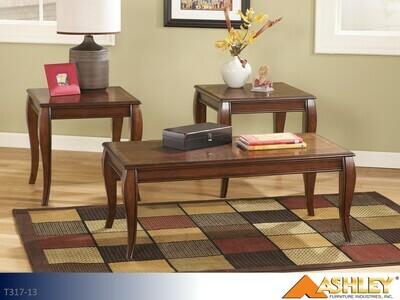 Mattie Reddish Brown Occasional Table Set by Ashley (3 Piece Set)