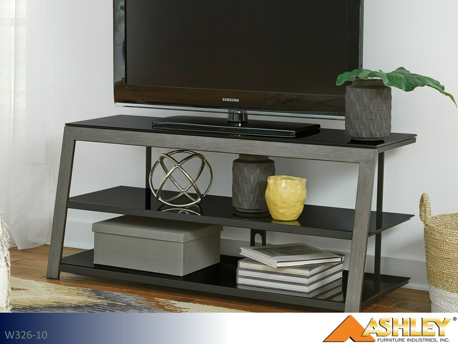 Rollynx Black TV Stand by Ashley
