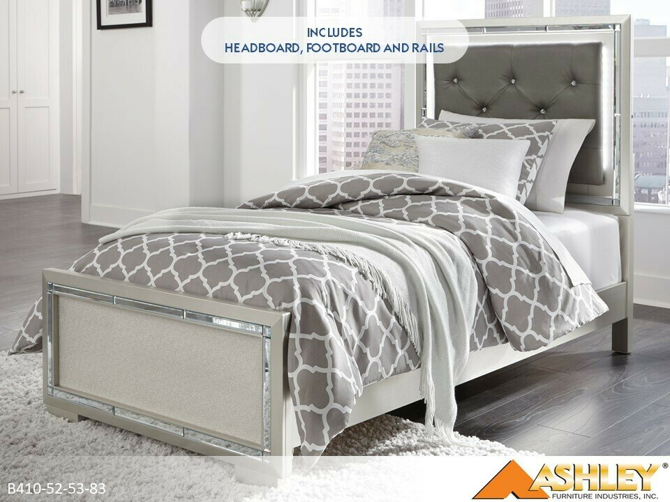 Lonnix Bed with Headboard Footboard Rails by Ashley (Twin)