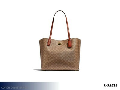 Willow Tan-Rust-Brass Handbag by Coach (Tote)