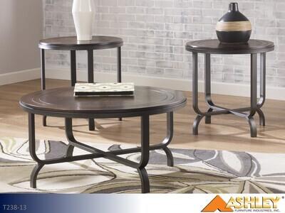 Ferlin Dark Brown Occasional Table Set by Ashley (3 Piece Set)