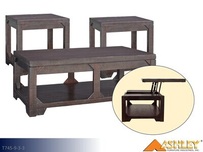Rogness Rustic Brown Occasional Table Set by Ashley (3 Piece Set)