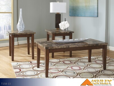 Theo Warm Brown Occasional Table Set by Ashley (3 Piece Set)