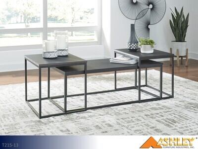 Yarlow Black Occasional Table Set by Ashley (3 Piece Set)