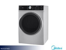 White Front Load Electric Dryer by Midea (8.0 Cu Ft)