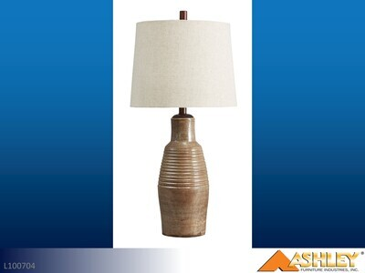 Calixto Taupe Lamps by Ashley