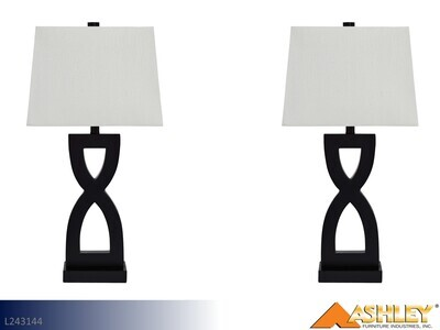 Amasi Black Lamps by Ashley (Pair)