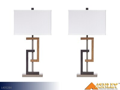 Syler Brown-Silver Lamps by Ashley (Pair)