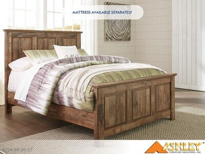 Blaneville Brown Bed with Headboard Footboard Rails by Ashley (Queen)