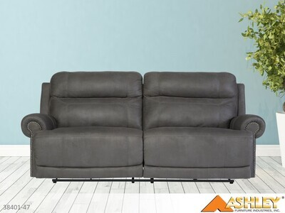 Austere Gray Reclining Sofa by Ashley (2 Seat)