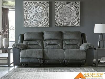Earhart Slate Reclining Sofa by Ashley