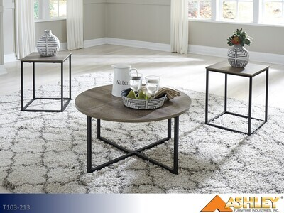 Wadeworth Two Tone Occasional Table Set by Ashley (3 Piece Set)