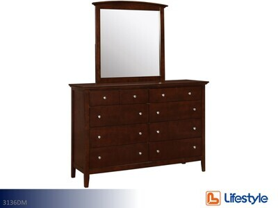 Carter Dresser with Mirror by Lifestyle