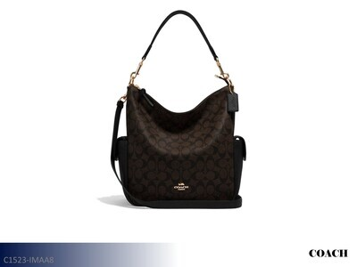 Pennie Brown-Black Handbag by Coach (Shoulder Bag)