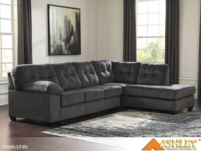 Accrington Granite Stationary Sectional by Ashley (2 Piece Set)