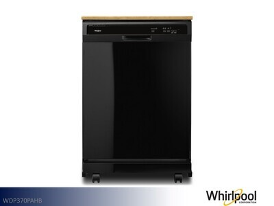 Black Dishwasher by Whirlpool (Portable)