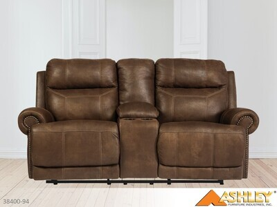Austere Brown Reclining Loveseat by Ashley