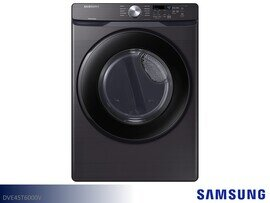 Black Stainless Front Load Electric Dryer by Samsung Appliances (7.5 Cu Ft)