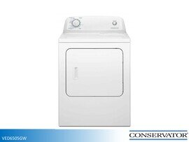 White Electric Dryer by Conservator (6.5 Cu Ft)