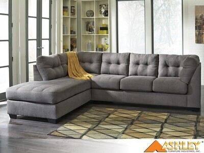 Maier Charcoal Stationary Sectional by Ashley (2 Piece Set)