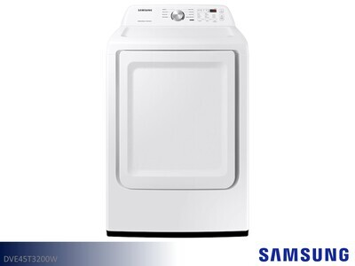 White Electric Dryer by Samsung Appliances (7.2 Cu Ft)