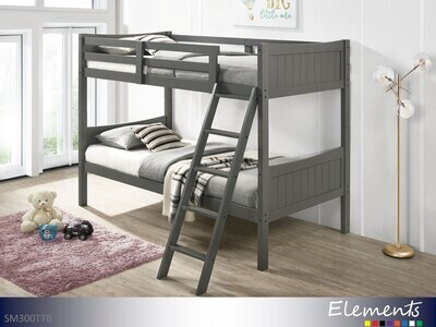 Sami Gray Bunk Bed by Elements (Twin-Twin)