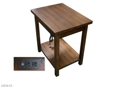 Woodsman Chairside Table by AWF Imports