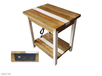 Rustic Retrieve Chairside Table by AWF Imports