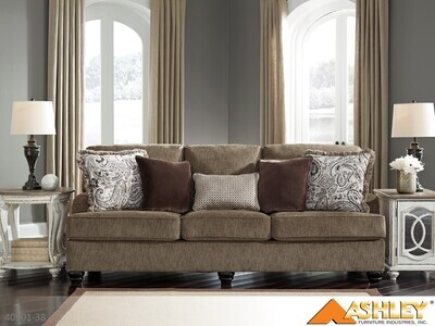 Braemar Brown Stationary Sofa by Ashley