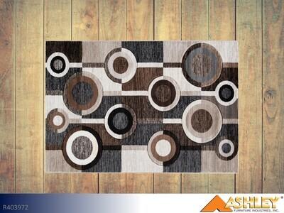 Guintle Black-Brown Rug by Ashley