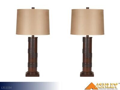 Oriel Antique Copper Lamps by Ashley (Pair)