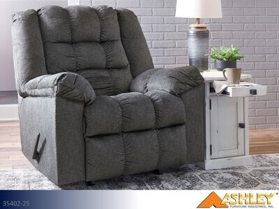 Drakestone Charcoal Recliner by Ashley