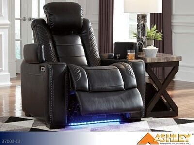 Party Time Midnight Recliner by Ashley