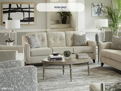 Oliver Sand Stationary Sofa by Washington