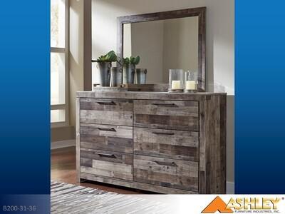 Derekson Multi Gray Dresser with Mirror by Ashley (2 Piece Set)