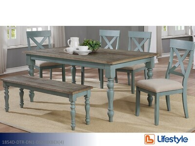 Brown 7 Pc Dining set by Lifestyle (6 Piece Set)